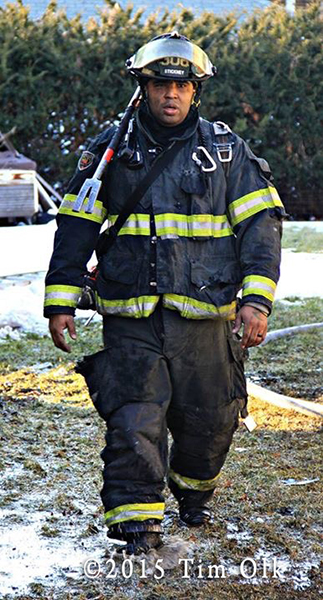 fireman after fighting fire