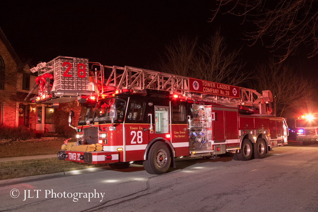 Carol Stream Fire Department tower ladder