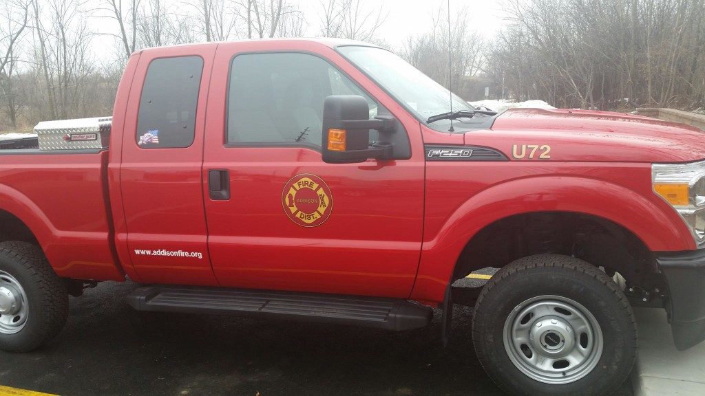 New Addison Fire District utility. Addison Fire District photo