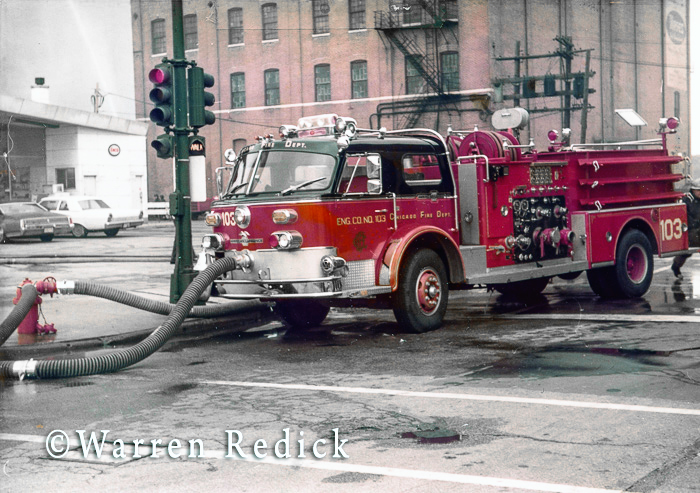 vintage American LaFrance fire engine in Chicago