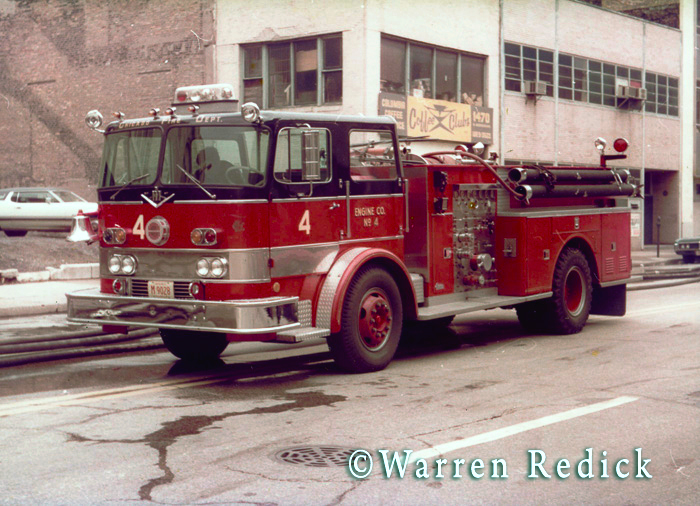 vintage Seagrave fire engine in Chicago