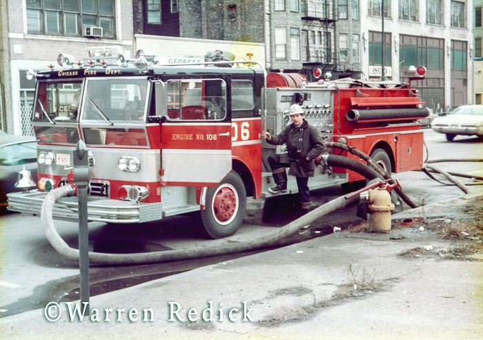 vintage Ward LaFrance fire engine in Chicago