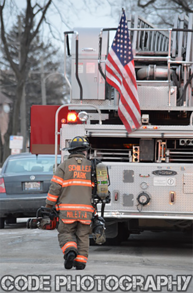 fireman walking to truck
