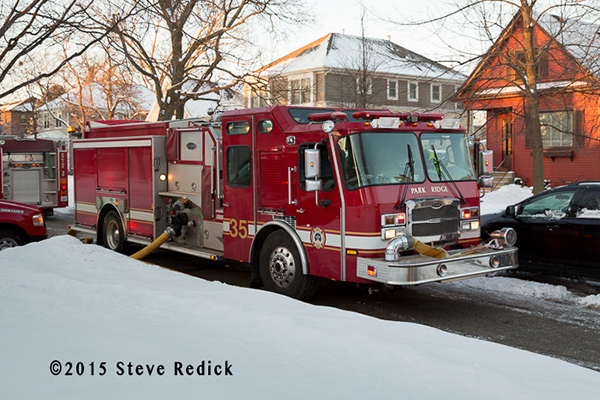 Park Ridge FD E-ONE fire engine