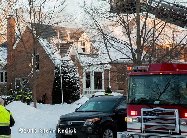 small house fire in Park Ridge IL