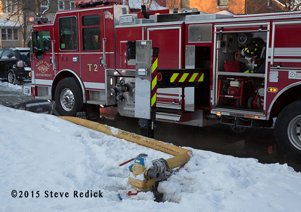 fire hydrant buried by snow