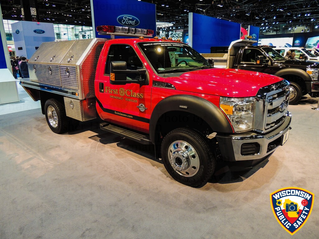 Ford fire truck at the 2015 Chicago Auto Show
