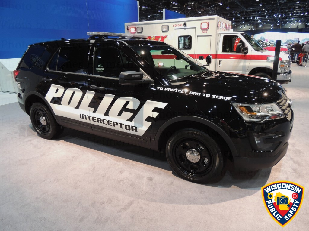 Ford Explorer police interceptor at the 2015 Chicago Auto Show