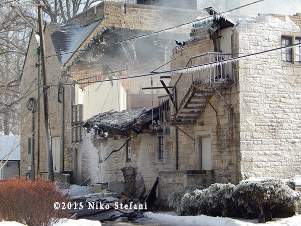 building collapse after fire