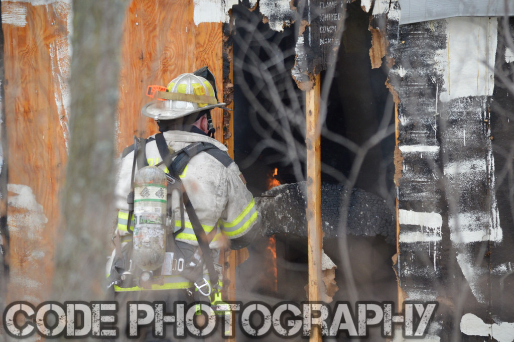 fire chief at fire scene
