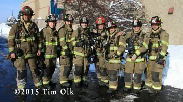 firemen posing for group shot