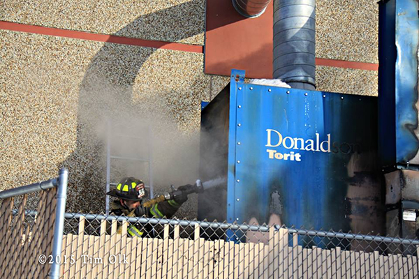 dust bin collector fire