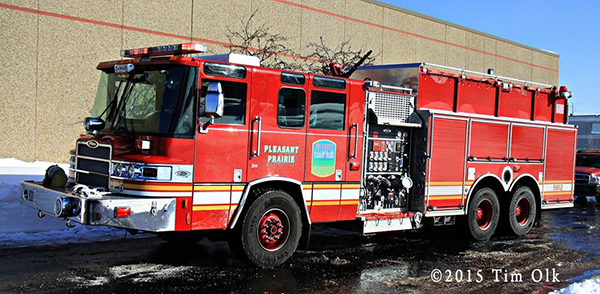 Pierce Quantum fire engine Pleasant Prairie FD