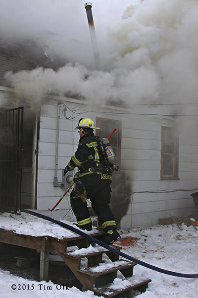 heavy smoke at house fire