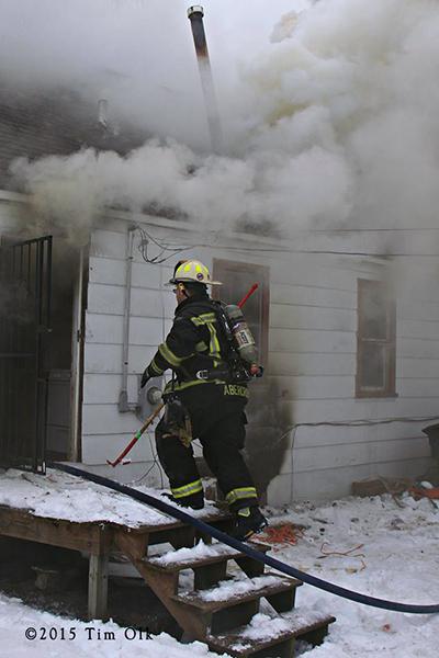 heavy smoke at house fire