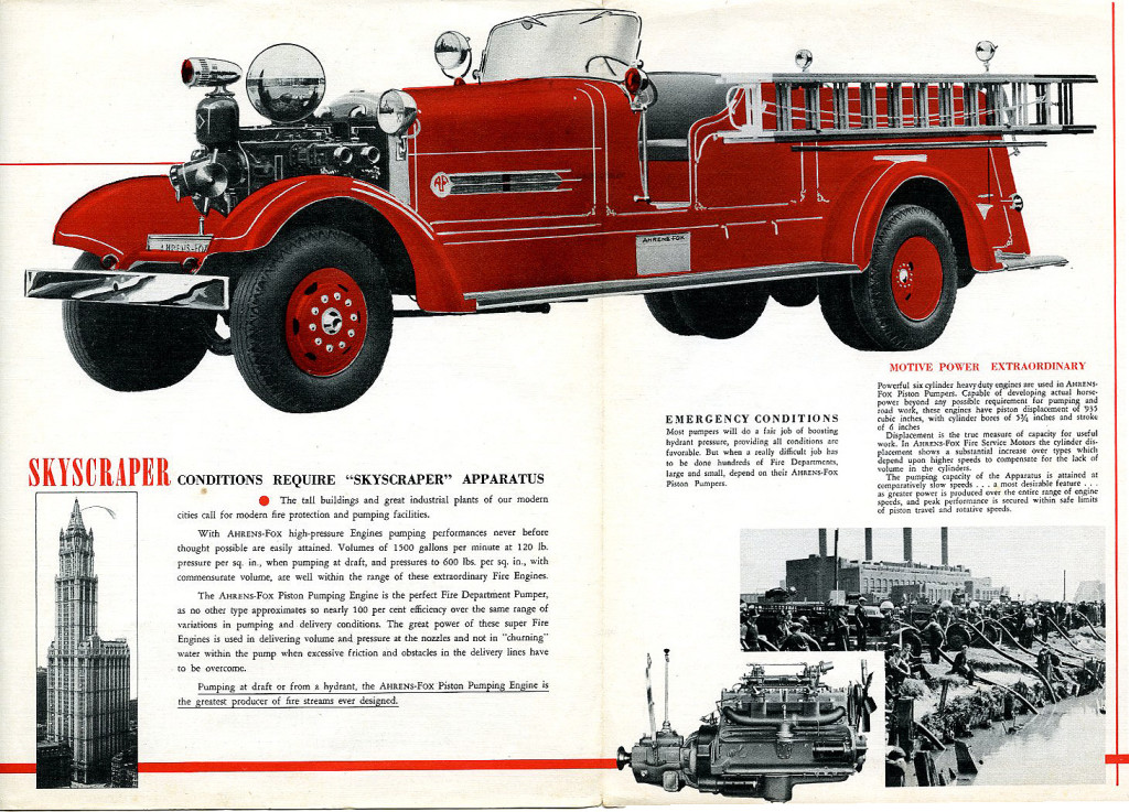 Ahrens Fox Fire Truck Brochure