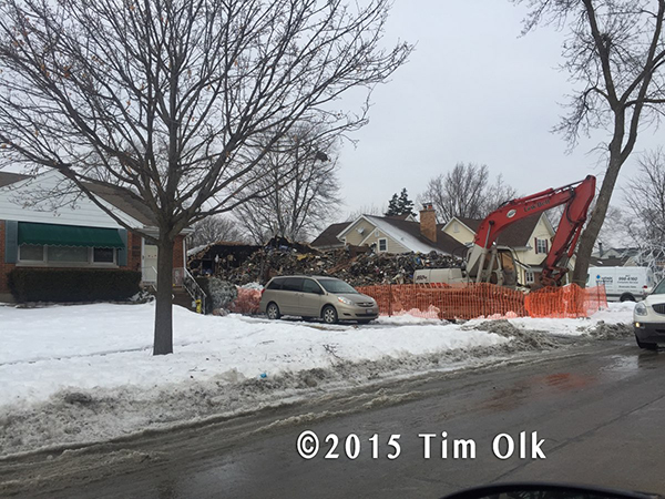 hoarder house demolished after fire
