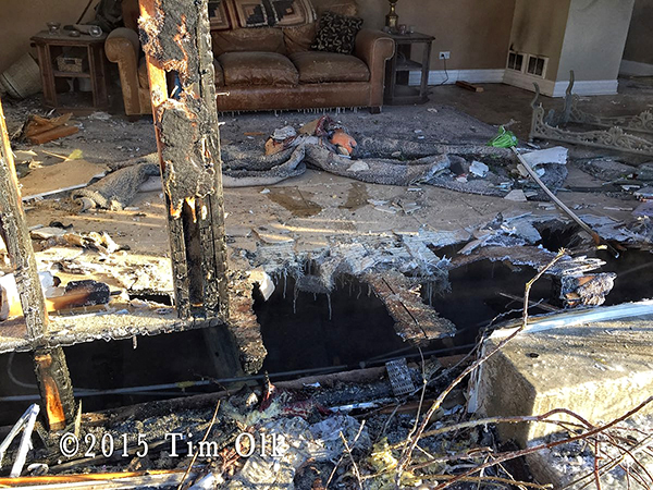 aftermath from house fire