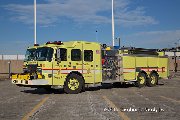 Chicago O'Hare Airport E-ONE fire engine