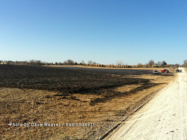 field after large fire
