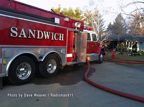 Sandwich FPD fire apparatus