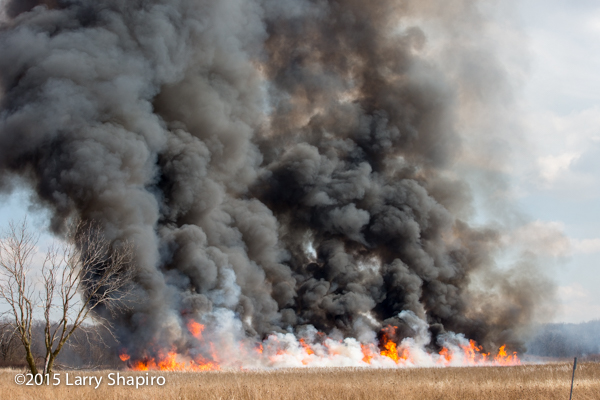 huge flames and heavy smoke from prescribed burn