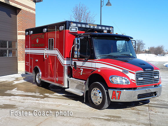 Glenview Fire Department Ambulance 7