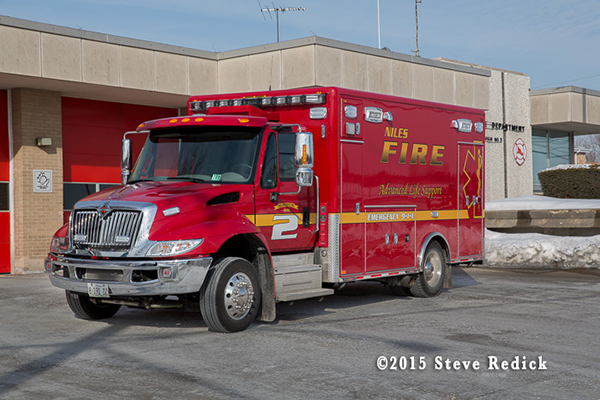 Niles FD Ambulance 2, 2014 IHC 4300 Horton Type I