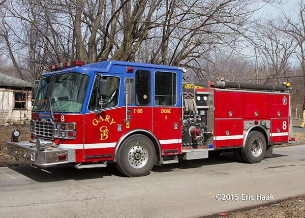 Gary IN Ferrara fire truck