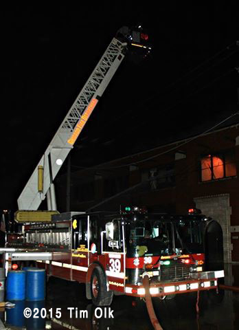 night fire scene photo