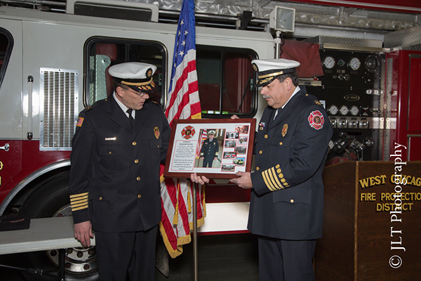 fire chief retires in West Chicago IL