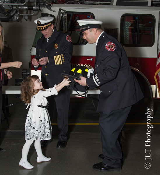 new fire lieutenant promoted in West Chicago IL