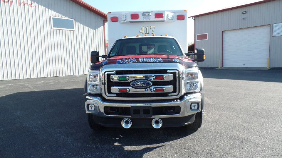 front of ambulance