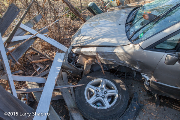 wheel of Lexus SUV sheers off during accident