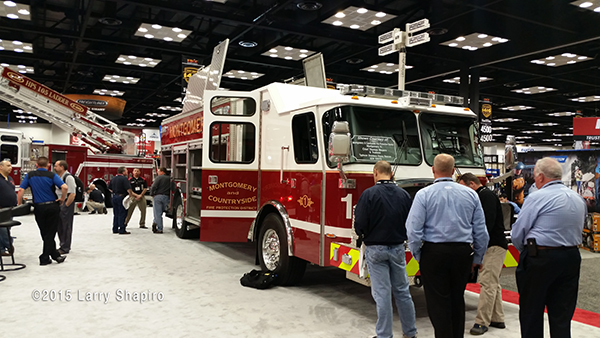 E-ONE fire truck at FDIC 2015