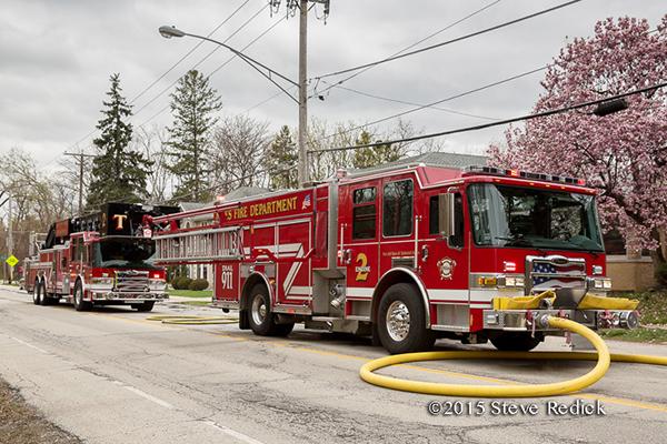 Niles Fire Department fire trucks