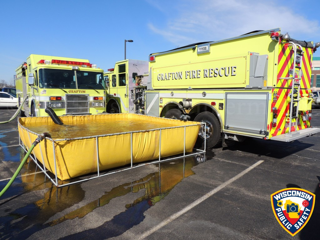 fire department rural water supply with portable tank