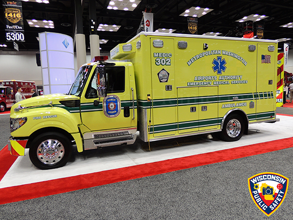 fire truck on exhibit at trade show