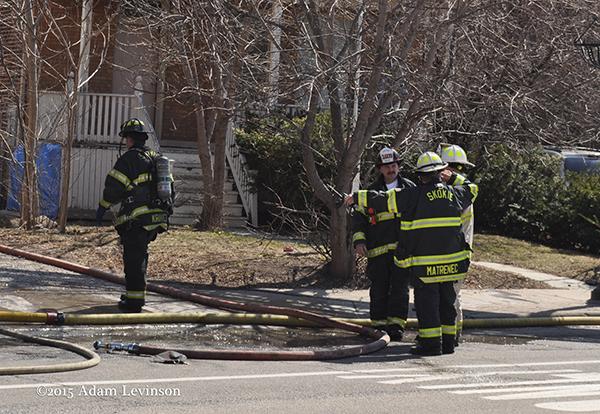 firemen at fier scene