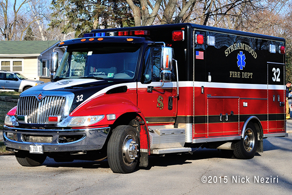 Streamwood Fire Department ambulance