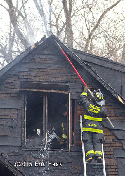 aftermath of house gutted by fire