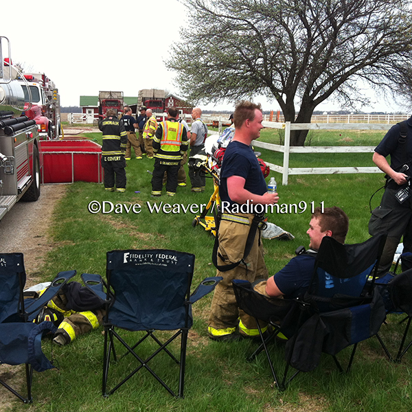 firemen in rehab after a fire