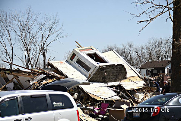 house destroyed by a tornado