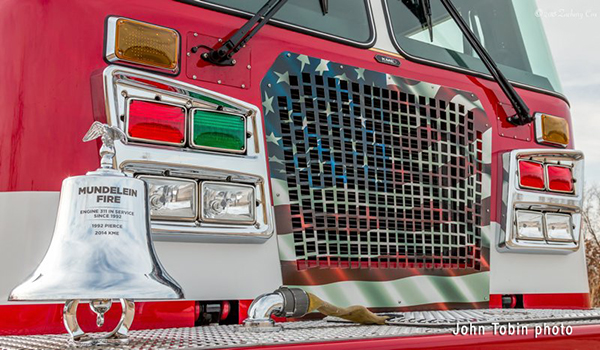 fire engine with engraved bell
