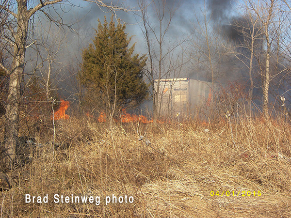 firemen at prairie fire