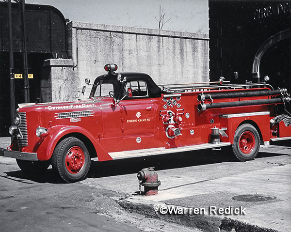 antique Chicago Pirsch fire engine