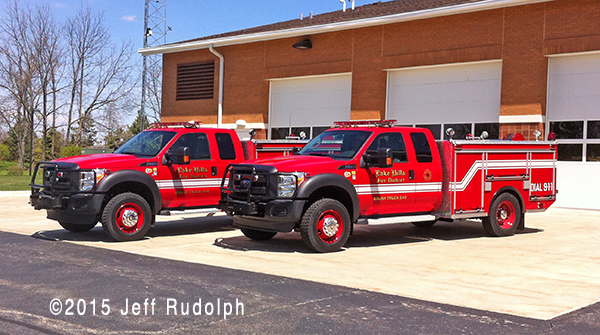 New Ford/EJ Metals brush units for the Lake Villa Fire Department