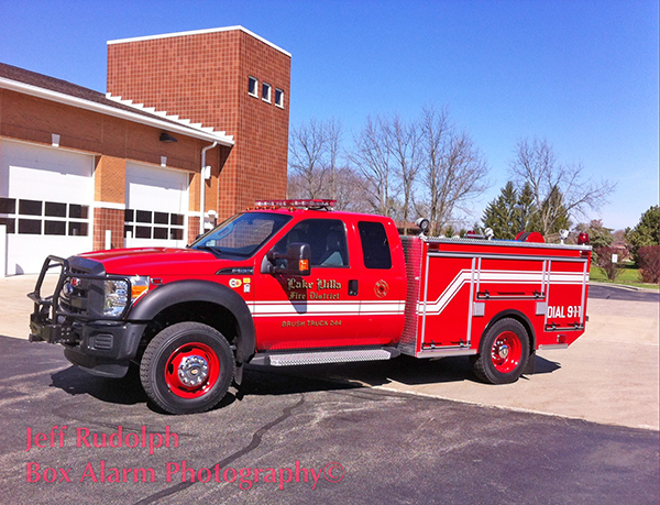 New Ford/EJ Metals brush unit for the Lake Villa Fire Department