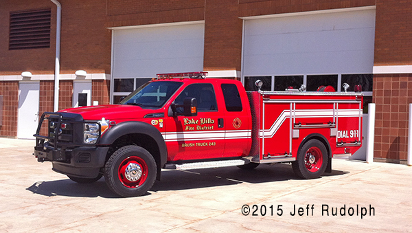 New Ford/EJ Metals brush unit for the Lake Villa Fire Department.