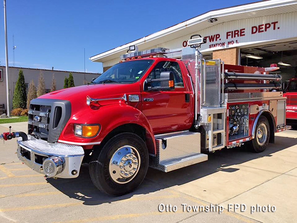 Ford F750 fire engine